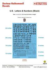 Techmod 1/48 Black U.S. Letters & Numbers # 48818