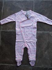 BNWT Baby Girl's Bonds Newbies Pink & White Coverall/Sleeper/Sleepsuit Size 000