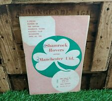Rare Manchester United v Shamrock Rovers 1960 Football Programme Irish, Ireland