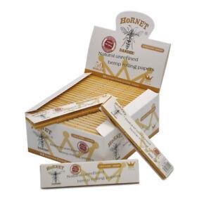 HORNET 50 packs Organic White 110MM Cigarette Smoking Rolling Paper King Size
