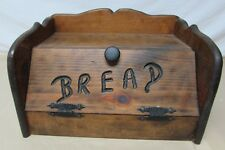 Solid Wood Bread Box Vintage wooden