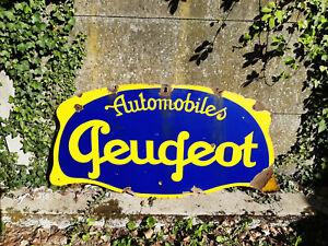 RARE Plaque de collection émaillée Peugeot