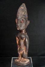 Yoruba Ere Ibeji (Oyo-Oshogbo) Male Twin Figure, Encrusted Patina, ca. 1910