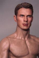 """1/6 Captain America Chris Evans Head Sculpt Avengers F 12"""" ZC Figure action CN"""