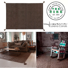 Lorena Canals Rectangular cotton Washable Rug Tribu Soil Brown M Home Decor