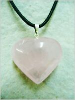 Colgante corazon de cuarzo rosa, pink quartz pendant.  2-63