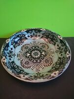 "Vintage Daher Decorated Ware 10"" Metal Bowl Multiple Colored Kaleidoscope Style"