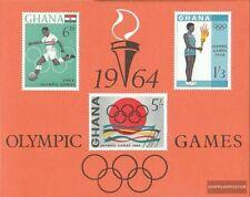 ghana Bloc 12 (complète edition) neuf avec gomme originale 1964 Olympia