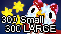 Animal Crossing ACNH 300 Star Fragments + 300 Large Star Fragments CHEAPEST