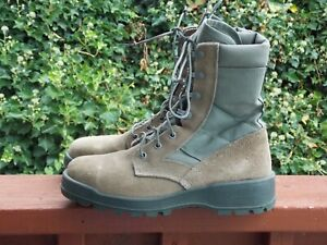 USAF Military Combat Boots Mondo PT Sage Green Suede Steel Toe Size 7