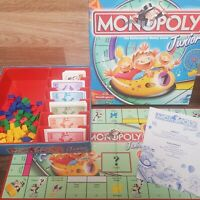 MONOPOLY JUNIOR THE ROLLERCOASTER MONEY GAME - WADDINGTONS 2001 - COMPLETE