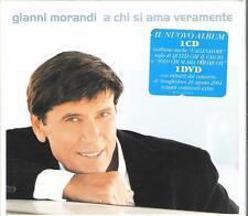 """GIANNI MORANDI - RARO CD + DVD """" A CHI SI AMA VERAMENTE """""""
