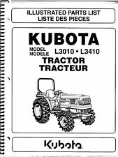 Kubota L3010 L3410 Tractor Illustrated Parts Manual