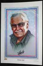 Stan Lee Bust Color Print by Jason Palmer - Signed by Stan Lee