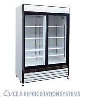 Sun Ice 48 cf Beer & Soda 2 Glass Door Refrigerator Cooler Merchandiser SI2-48RB