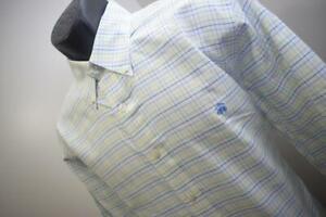 Brooks Brothers Dress Shirt Supima Plaid Slim Fit Long Sleeve Mens Size Large