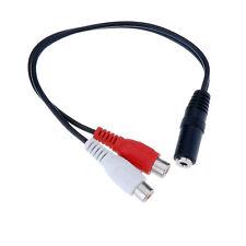 Cable de Audio Minijack Estereo 3.5mm Hembra 2 RCA Hembra Divisor Adaptador 2454