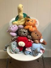 ty Beanie Babies Pillow Pals zoo animals originals with tag in mint condition