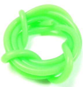 Fluorescent Solid Green Silicone RC Nitro Glow Fuel Line Tube Pipe 1 Meter 1/10