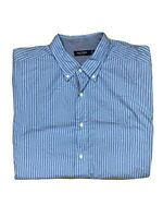 Nautica Mens Big And Tall Slim Fit Checked Button Up Collar Short Sleeves Shirt