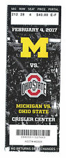University of Michigan vs. Ohio State men's basketball ticket stub, 2/4/2017