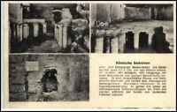 BADEN BADEN um 1955 AK Römische Bad-Ruinen 3 Ansichten