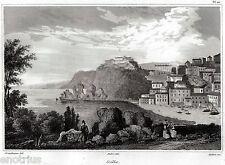 SCILLA: Panorama. Reggio Calabria. Stretto di Messina. Audot. ACCIAIO. 1835
