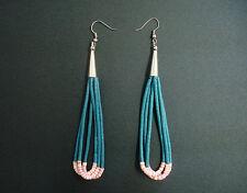Handmade Southwestern Beaded Dangling Earrings