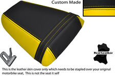 YELLOW & BLACK CUSTOM FITS HONDA CBR 600 F 01-03 REAR LEATHER SEAT COVER