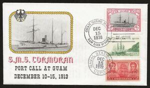 USA Local Guam Guard Mail CORMORAN Ship 1st Day Cover DEC.15.1978 cancel VF