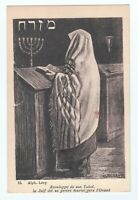 Antique French Jewish MIZRAH Postcard Image of Jew at Synagogue by Alphonse Levy
