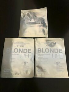 JOICO BLONDE LIFE 9+ Lightening Powder Lifts Up To 9 Levels (3 Packets) ~1.5 oz!