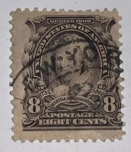 TRAVELSTAMPS: 1902-03 US Stamps Scott # 306, Used, No Gum, Martha Washington