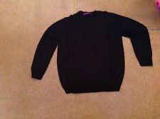Henbury H760 Mens Cashmere Touch Acrylic V-neck Jumper - Black - Medium