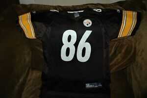 Hines Ward jersey! Pittsburgh Steelers YOUTH large 14-16 vintage black throwback
