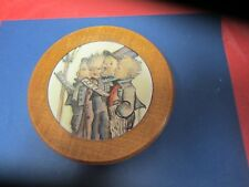 Vintage Pull String  Wooden Reuge Music Box Wall Decor = Switzerland=  NR