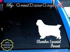 Clumber Spaniel -Mom -Dad -Parent(s) Vinyl Decal Sticker -Color -High Quality