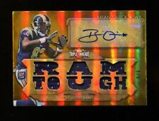Brian Quick 2012 Topps Triple Threads Rookie RC Auto Jersey Rams Mint