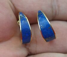 14 K Yellow Gold & Lapis Lazuli Post Earrings