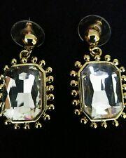 Orecchini in oro alla moda con centrale Cristallo Chiaro