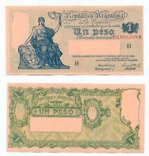 ARGENTINA NOTE 1 PESO (1940) PREBISCH-BOSCH B# 1819 SERIAL H P 251a AU++