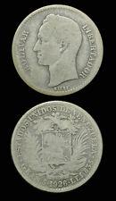 1926 Venezuela Silver Bolivar - Gram 5 - Scarce - Nice