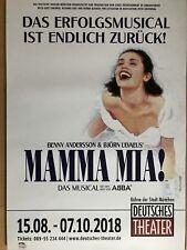 MAMMA MIA – ABBA  2018 MÜNCHEN - orig.Concert Poster -- Konzert Plakat  A1 NEU