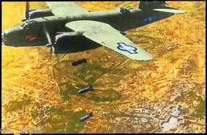 WWII B-26 Marauder bomber over Rome  postcard