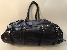 Boston Proper Handbag Travel Bag Purse Extra Large Dark Brown Leather