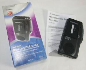 Radioshack Dual-Speed MicroCassette Recorder 14-1148