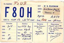 CPA  To Radio F2UB -F 8 0 H   (227444)