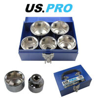 "US PRO Tools 5 Piece 3/4"" Drive 6 Point Metric Shallow Sockets 55 - 70MM 3384"