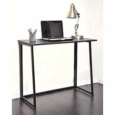 "New! black wood/ metal folding desk 34.5"" L x 17.75"" W x 29"" H Weighs 17 lb."