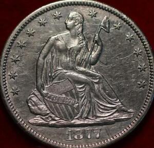 1877-CC Carson City Mint Silver Seated Half Dollar